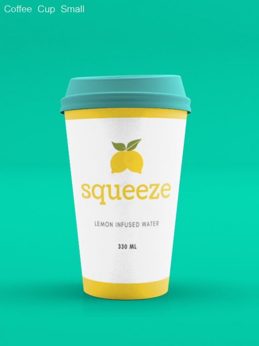 Coffee Cup small back no sleeve psd mockup