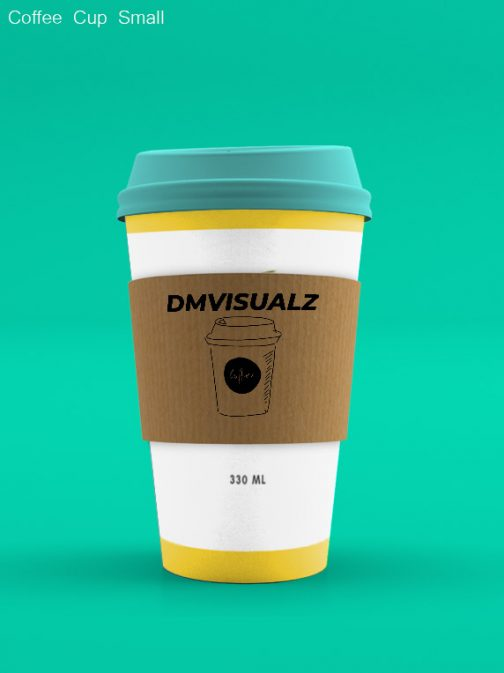 Coffee Cup small back psd mockup