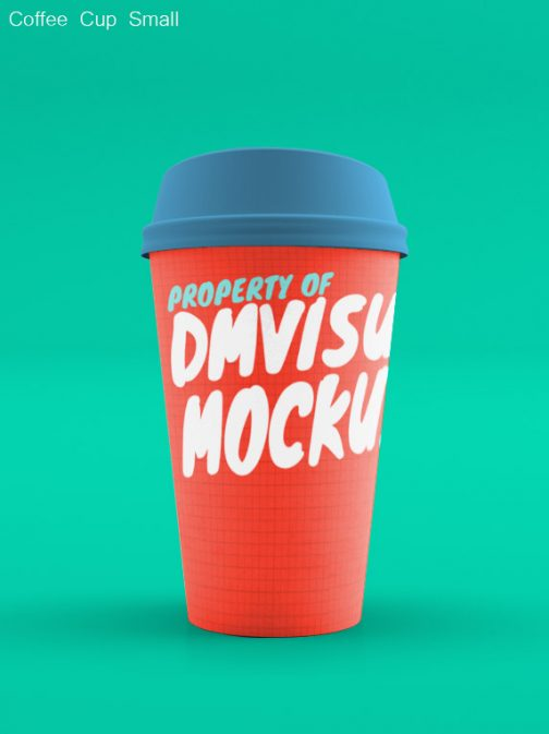 Coffee Cup small no sleeve psd mockup