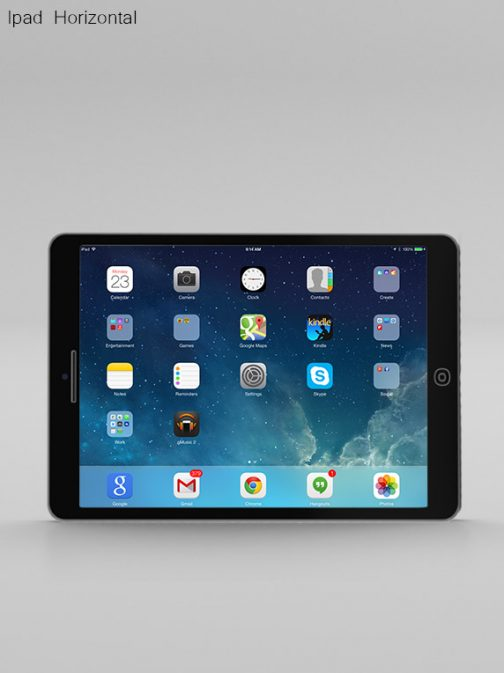 Ipad Horizontal black psd mockup