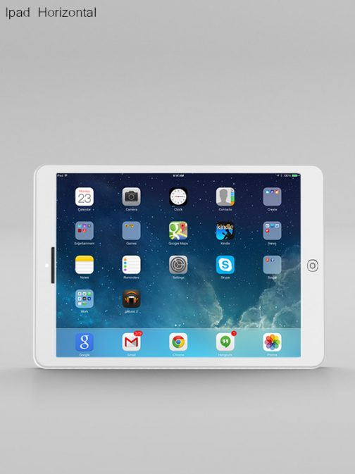 Ipad Horizontal white psd mockup